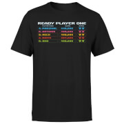 Ready Player One 8 Bit Scoreboard T-shirt - Zwart