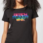 Ready Player One Rainbow Logo Women's T-Shirt - Black