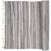 Broste Copenhagen Chindi Cotton Rug - Drizzle Melange - 70cm x 140cm