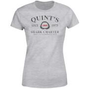 Der Weiße Hai Quints Shark Charter Damen T-Shirt - Grau