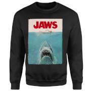 Sudadera Tiburón Póster Clásico Jaws - Hombre - Negro