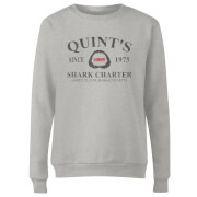 Jaws Quint's Shark Charter Women's Sweatshirt - Grey