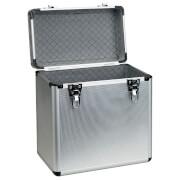 Citronic Aluminium 50 x 12 Inch Vinyl Record Flight Case - Silver