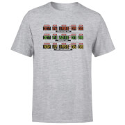 Back To The Future Destination Clock T-Shirt - Grey