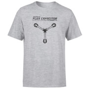 Camiseta Regreso al futuro Powered By Flux Capacitor - Hombre - Gris