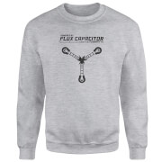 Back To The Future Powered By Flux Capacitor Sweatshirt - Grey