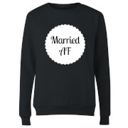 Married AF Women's Sweatshirt - Black