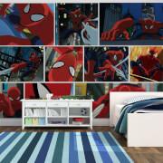 Marvel Spider-Man Cartoon Scene Wall Mural