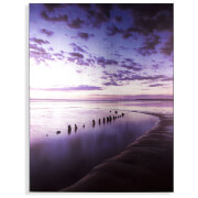 Art for the Home Metallic Serenity Shores Printed Canvas