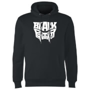 Black Panther Worded Emblem Hoodie - Black