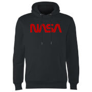 NASA Worm Red Logotype Hoodie - Black