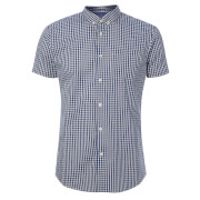 Broken Standard Men's Montgomery Checked Shirt - Blue