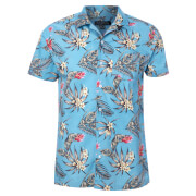 Broken Standard Men's Jason Tropical Shirt - Light Blue