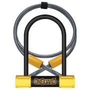 OnGuard Bulldog Mini U-Lock/Cable - 90mm x 140mm x 13mm