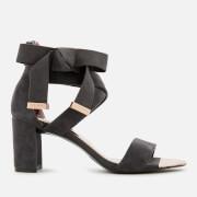 Ted Baker Women's Noxen 2 Suede Block Heeled Sandals - Charcoal