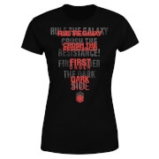 Star Wars Dark Side Echo Schwarz Damen T-Shirt - Schwarz