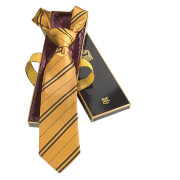 Harry Potter 100% Silk Hufflepuff Necktie in Madam Malkin's Box