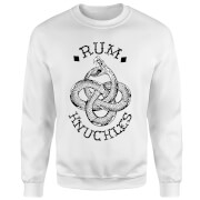 Rum Knuckles Eternal Snake Sweatshirt - White