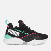 Puma Women's Muse Maia Chase Trainers - Puma Black/Knockout Pink/Biscay Green