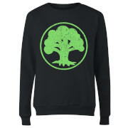 Magic The Gathering Mana Green Women's Sweatshirt - Black