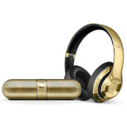 Beats by Dr. Dre Limited Edition Wireless Bundle - Studio 2.0 Headphones and Pill 2.0 - Metallic Gold