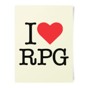 I Love RPG Art Print