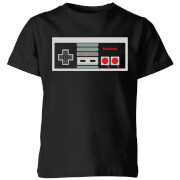 Nintendo Controller Chest Kinder T-Shirt - Schwarz