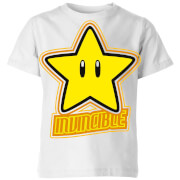 Nintendo Super Mario Invincible T-Shirt Kinder T-Shirt - Weiß