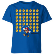 Nintendo Super Mario Coin Drop Kinder T-Shirt - Royal Blue