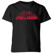 Nintendo Super Metroid Retro Logo Kinder T-Shirt - Schwarz