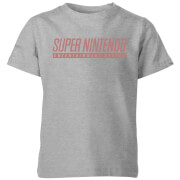 Nintendo SNES Men's Light Grau Kinder T-Shirt - Grau