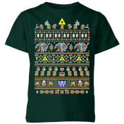 Camiseta Navidad Nintendo The Legend of Zelda It's Dangerous To Go Alone - Niño - Verde oscuro