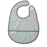 Done by Deer Contour Bib with Velcro - Gold/Grey
