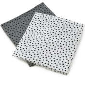 Done by Deer Happy Dots Muslin Cloth - Grey (Pack of 2)
