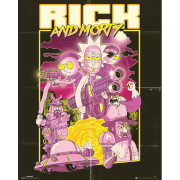 Rick and Morty Action Movie Mini Poster 40 x 50cm