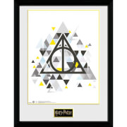 Harry Potter Deathly Pixels 12 x 16 Inches Framed Photograph