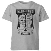 Nintendo Super Mario Mario Kart Fix-It Team Kids' T-Shirt - Grey