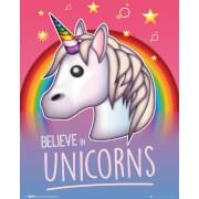 Emoji I Believe in Unicorns Mini Poster 40 x 50cm