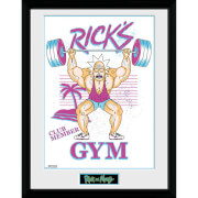 Rick and Morty Rick's Gym 12 x 16 Inches Framed Photograph