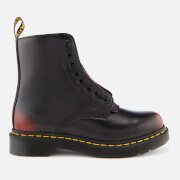 Dr. Martens Women's 1460 Pascal Front Zip Arcadia Leather 8-Eye Boots - Cherry Red