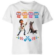 T-Shirt Enfant Miguel et Logo Coco - Blanc