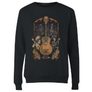 Coco Guitar Poster Women's Sweatshirt - Black