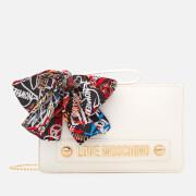Love Moschino Women's Small Zip Pouch Bag - White