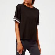Asics Women's Mix Fabric Short Sleeve Top - Performance Black