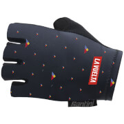 Santini La Vuelta 2018 Andorra Race Gloves - Blue