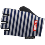 Santini La Vuelta 2018 Malaga Race Gloves - Blue/White