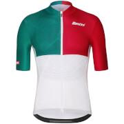Santini La Vuelta 2018 Euskadi Jersey - White/Green/Red