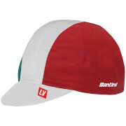 Santini La Vuelta 2018 Euskadi Cotton Cap - White/Green/Red