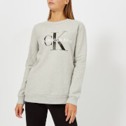 Calvin Klein Jeans Women's Core Monogram Logo Sweatshirt - Light Grey Marl