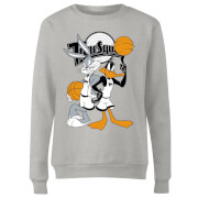 Space Jam Bugs And Daffy Time Squad Women's Sweatshirt - Grey